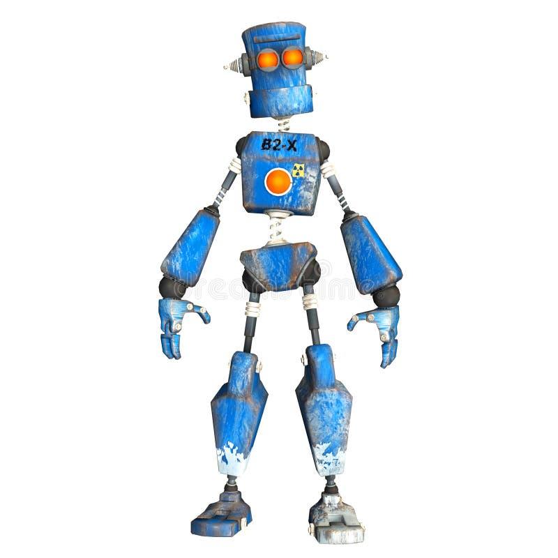Blue Robot . 4 royalty free illustration