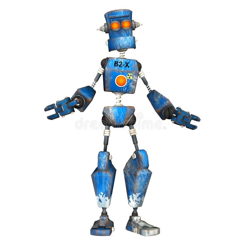 Blue Robot . 5 royalty free illustration