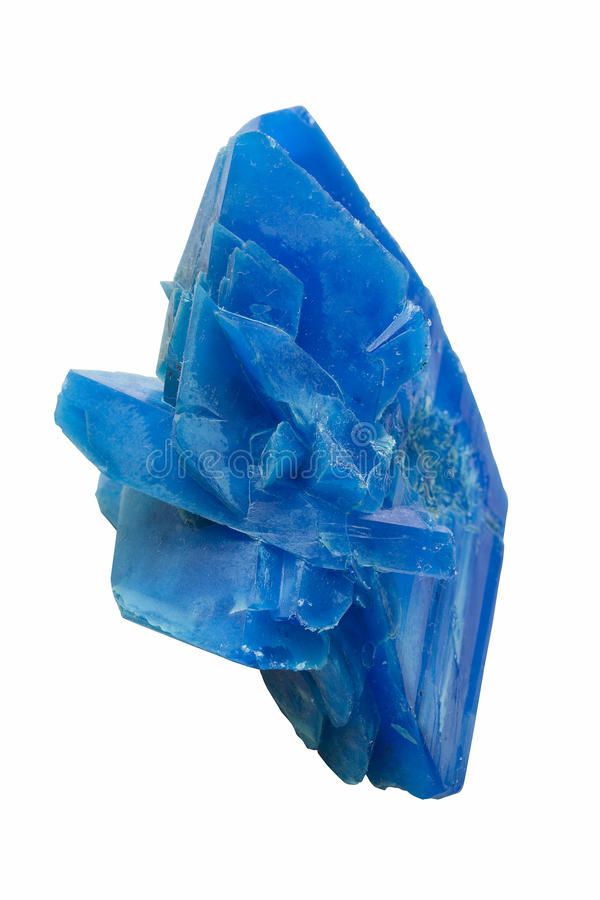Blue rock crystal royalty free stock photo