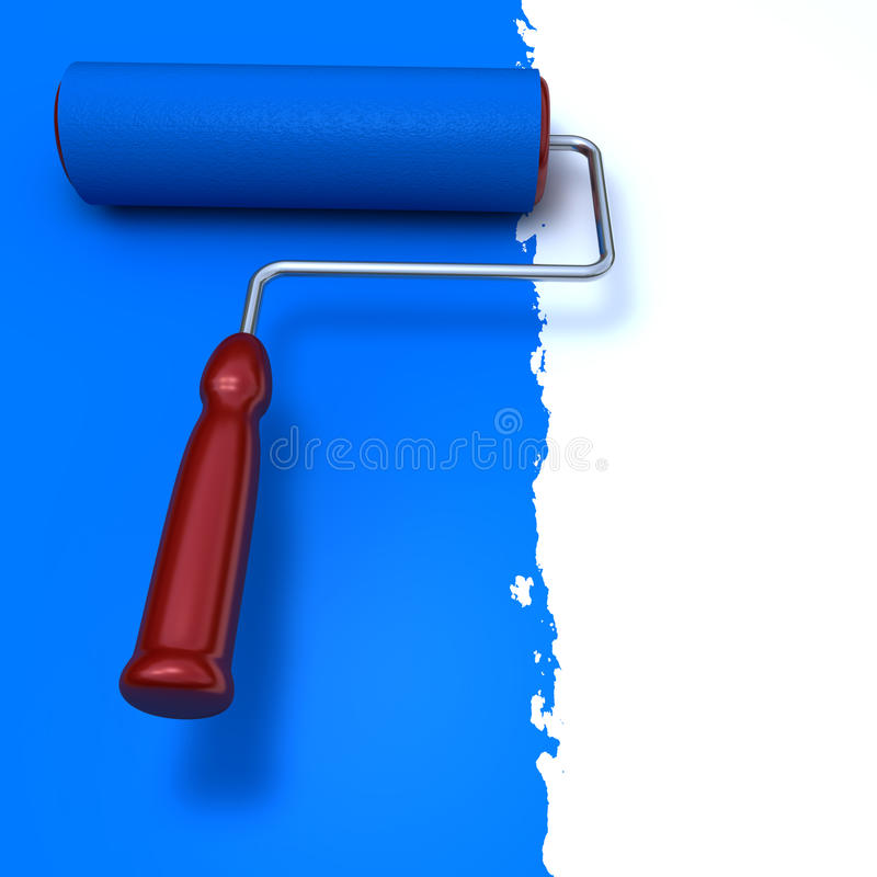 Download Blue Roll Paint Brush stock illustration. Illustration of field - 10585731