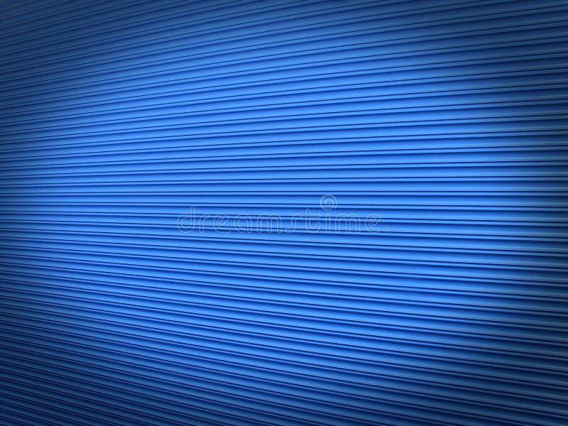 Blue roller shutter background stock images