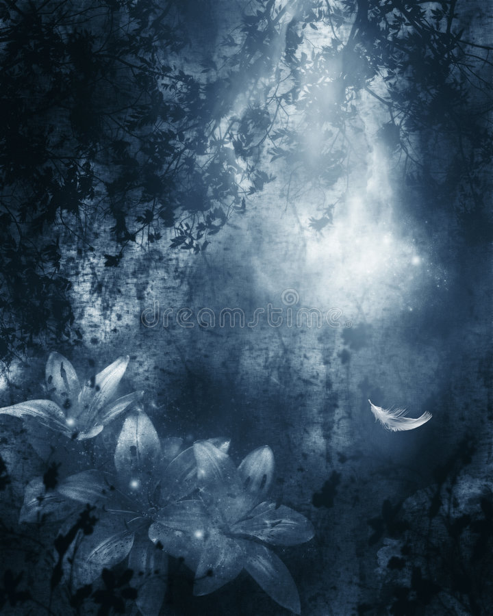 Download Blue Romance stock illustration. Image of jungle, sparkle - 1436950