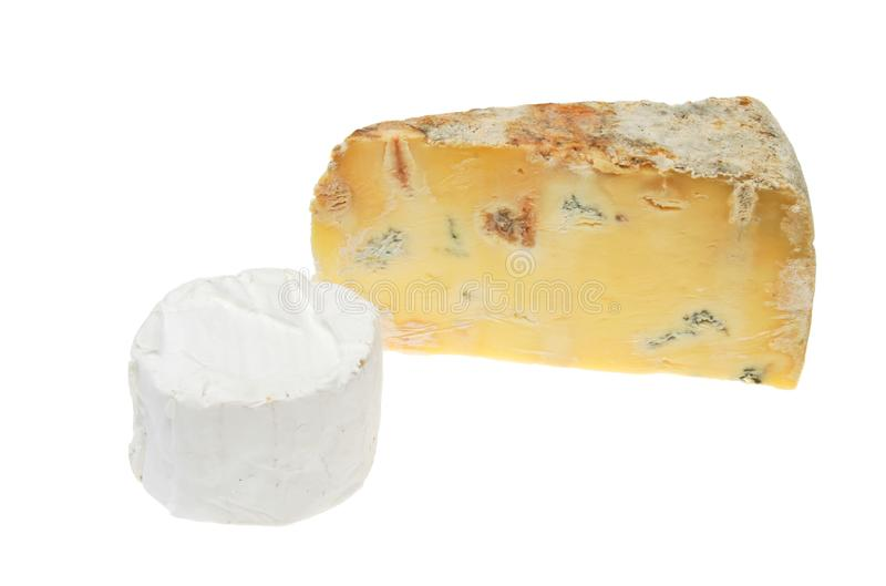 Blue and round cheese stock photo