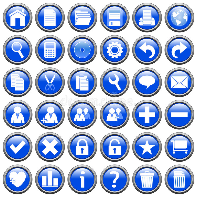 Download Blue Round Web Buttons [1] stock illustration. Image of copy - 6078454