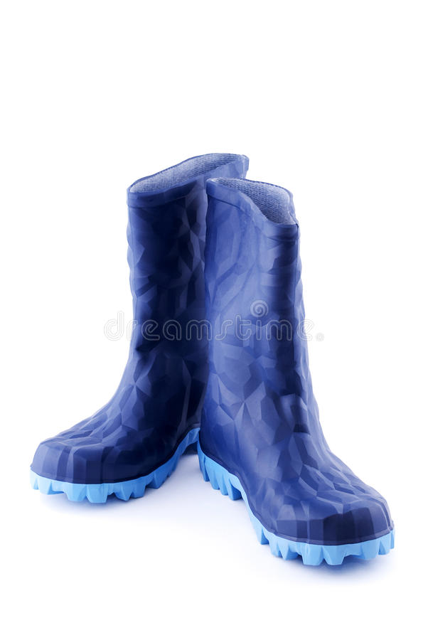 Download Blue rubber boots stock image. Image of rubber, colour - 17538583