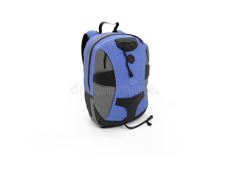 Blue Rucksack Royalty Free Stock Photography