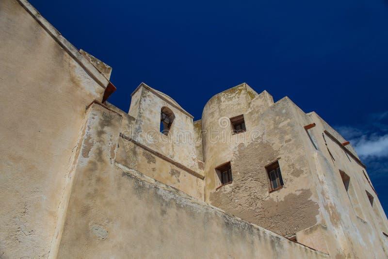 Blue ruin stock photo