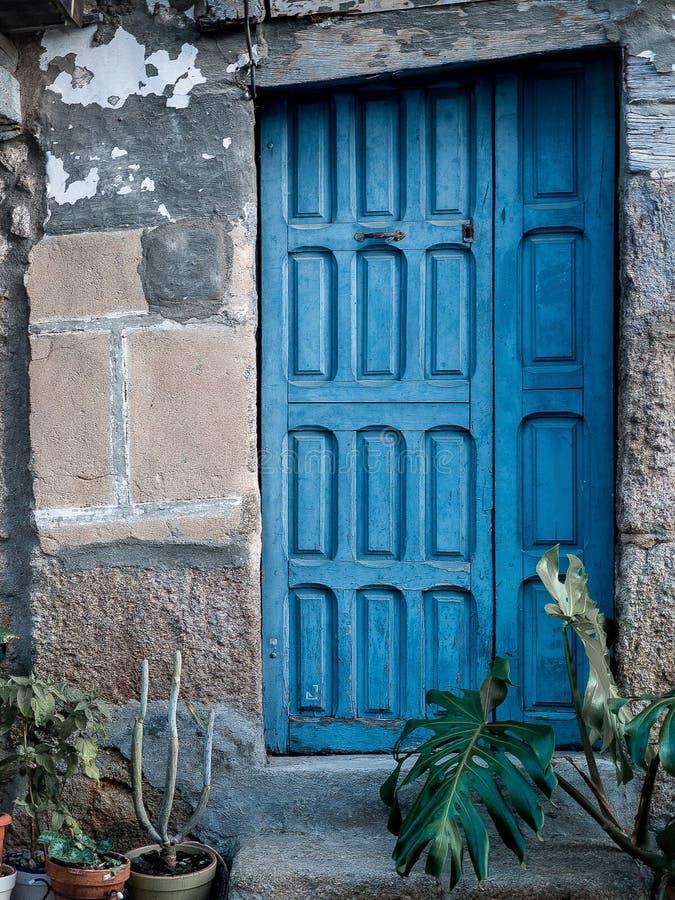 Download Blue Rustic Door Background Stock Photo