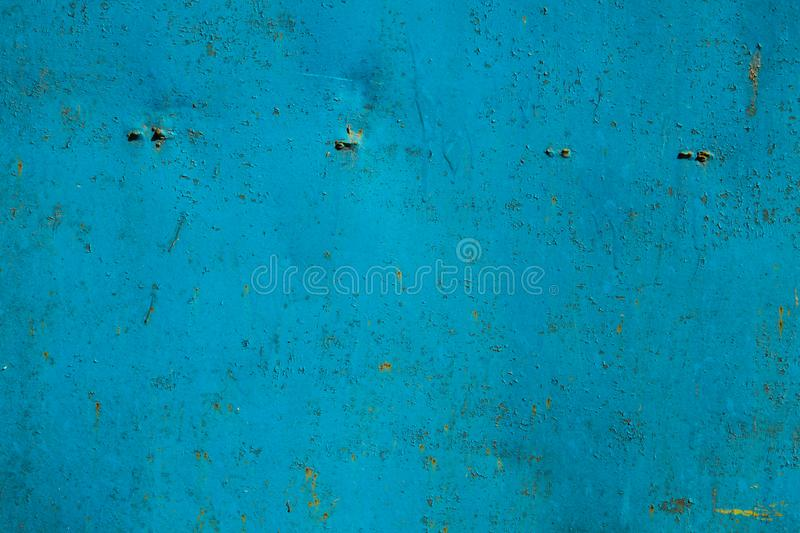 Blue rusty metal texture stock photography