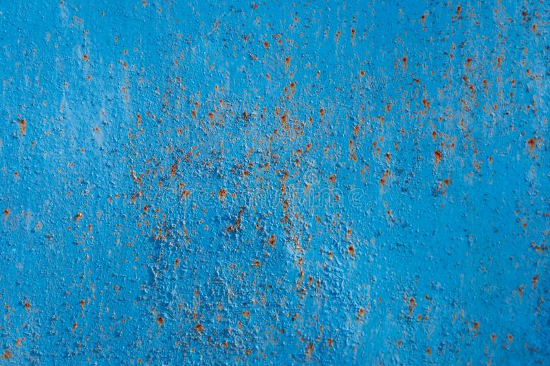 Blue rusty metal texture stock images