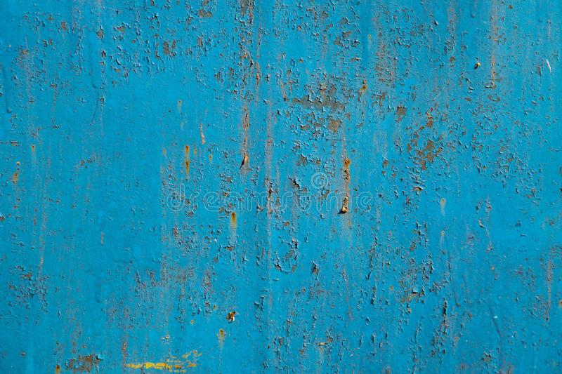 Blue rusty metal texture. Grunge background royalty free stock image