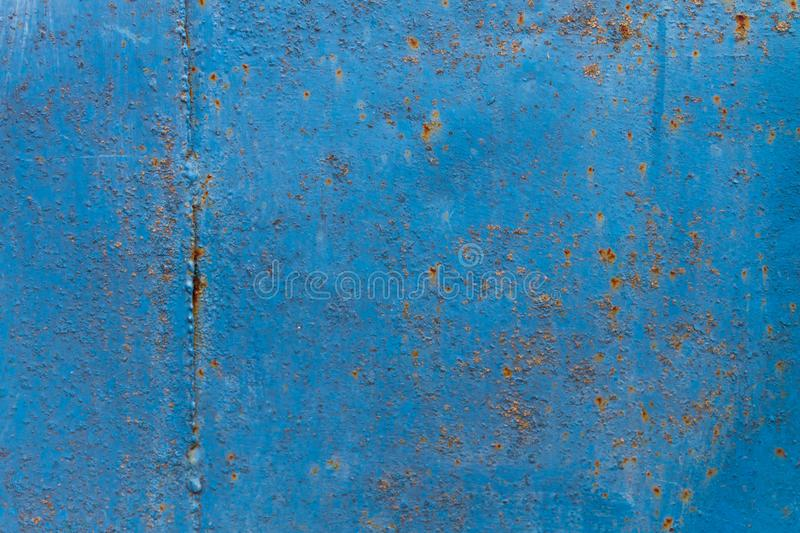 Blue rusty metal texture. Grunge background royalty free stock images