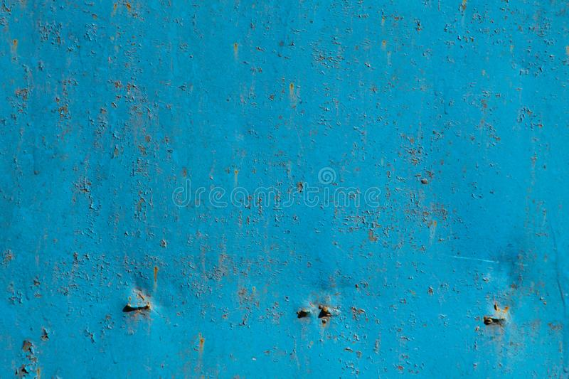 Blue rusty metal texture royalty free stock images