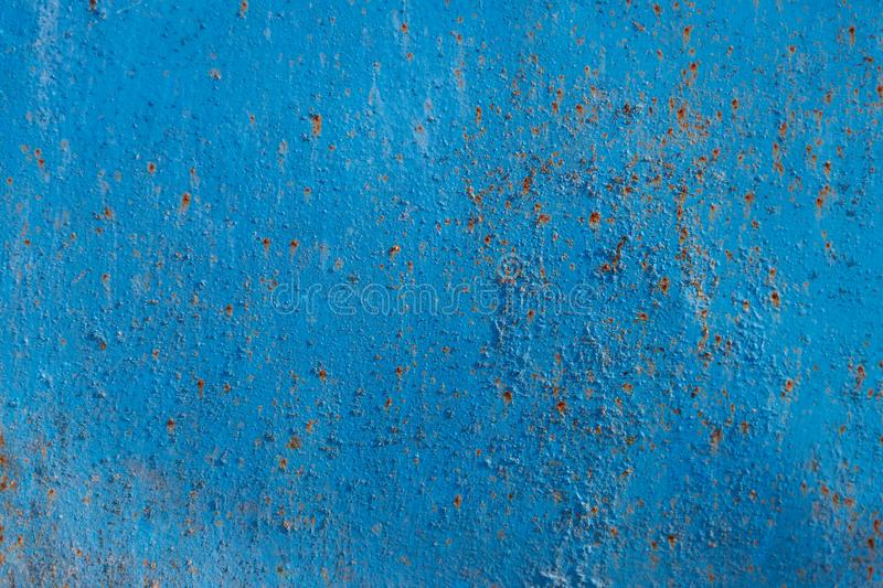 Blue rusty metal texture. Grunge background royalty free stock photography