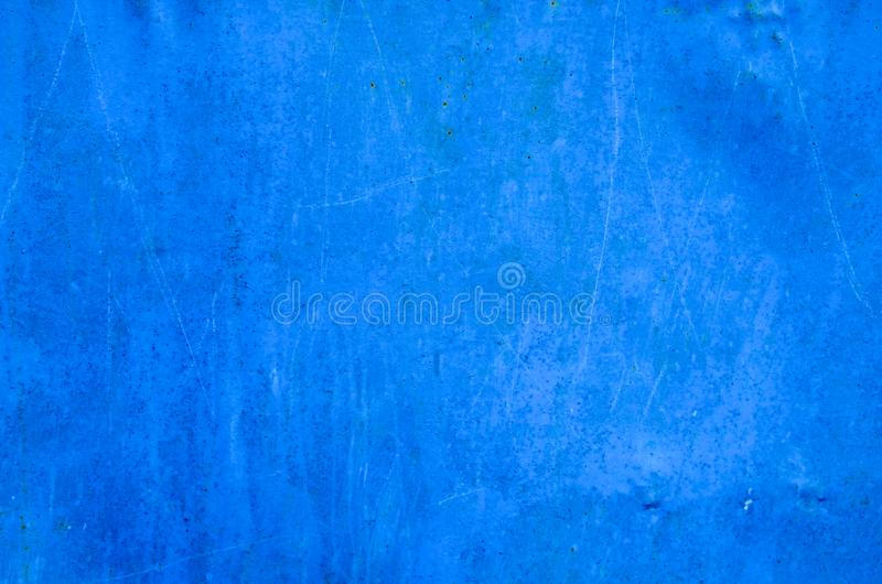 Blue rusty metal texture. Grunge background stock photo