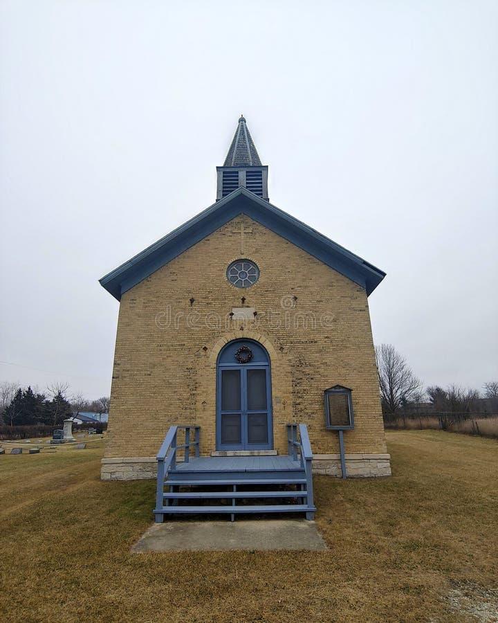 Blue' s-kyrka royaltyfria foton