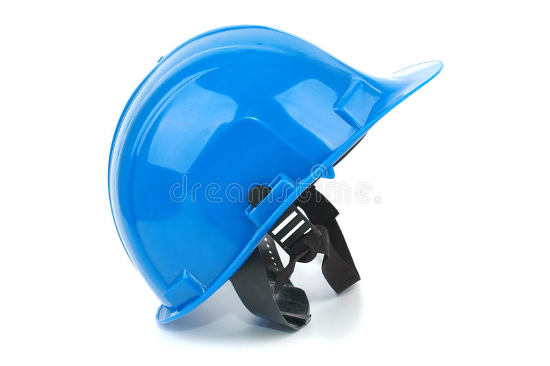 Download Blue Safety Helmet On The White Background Stock Photo - Image of home, tool: 20405062