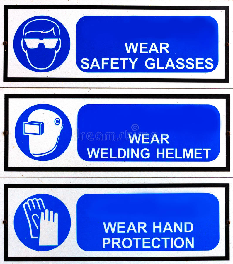 Blue Safety Signs Board Stock Photography