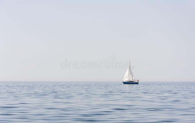 Download Blue Sail Boat At Sea Or Ocean Stock Photo - Image: 43030694