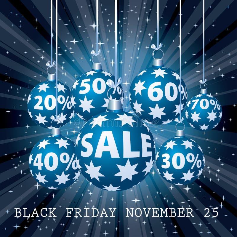 Blue sale percent balls stock illustration
