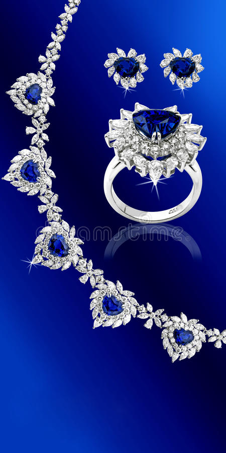 Download Blue Sapphire Set stock image. Image of ring, gemstone - 11622611