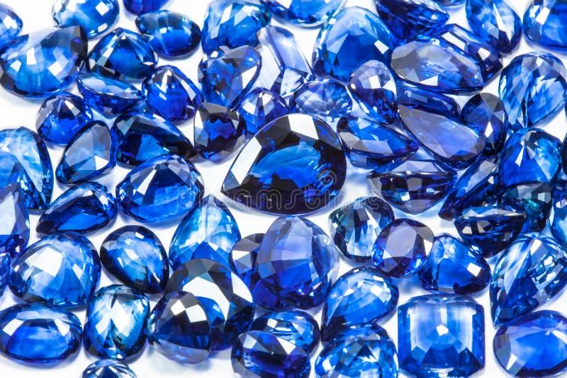 Blue sapphires royalty free stock photos
