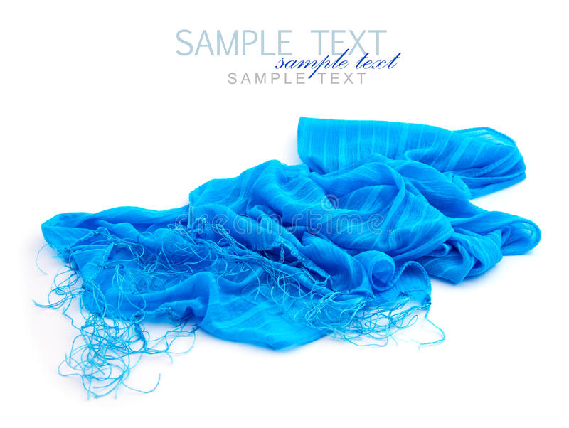 Download Blue scarf stock image. Image of shawl, scarf, women - 27040551