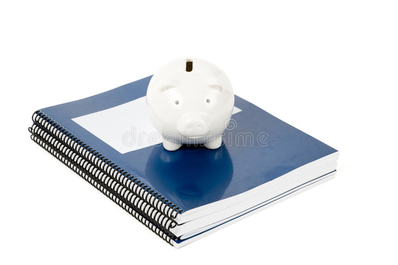 Download Blue School Textbook And Piggy Bank Stock Image - Image: 11278731
