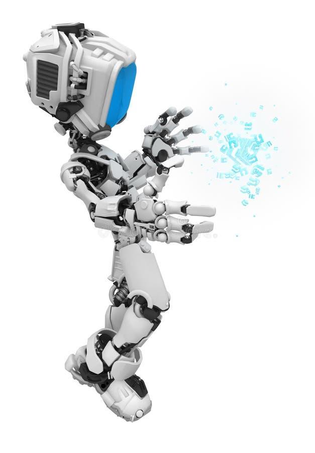 Download Blue Screen Robot, Data Box Glow Stock Illustration - Image: 15597758