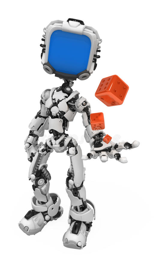 Download Blue Screen Robot, Dice stock illustration. Illustration of artificial - 12447266