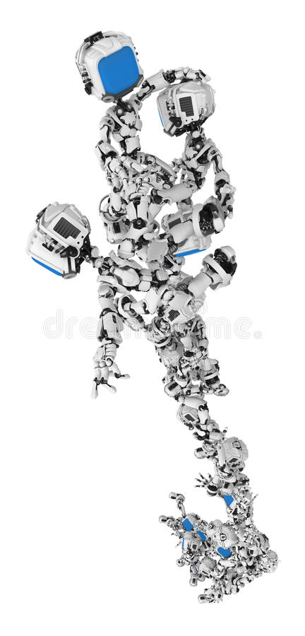 Download Blue Screen Robots, Group Stunt Rise Stock Illustration - Illustration: 15081309