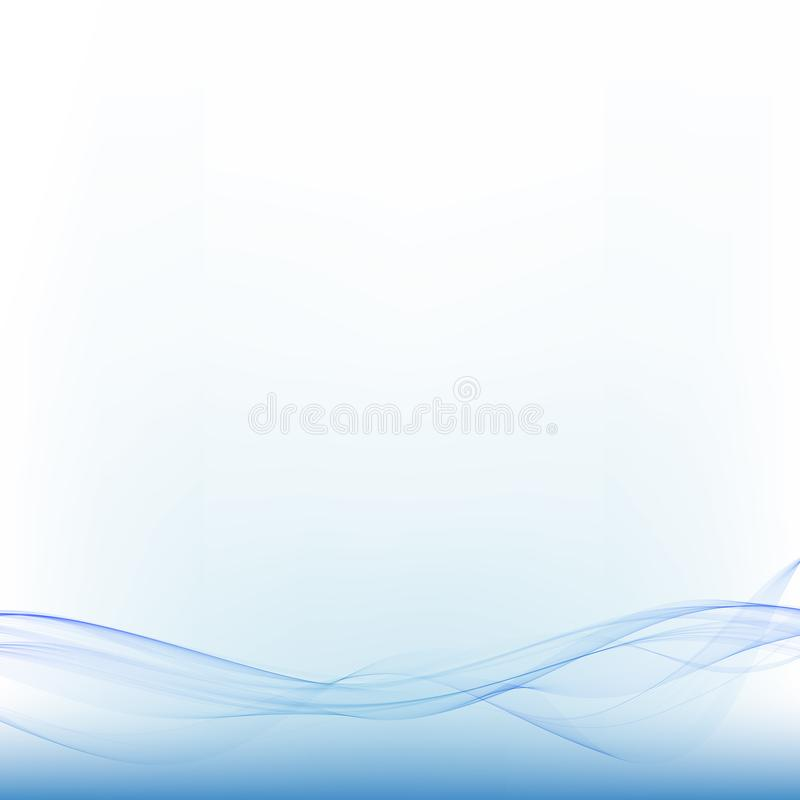 Blue sea abstract wave. Vector illustration. advertising layout. Vector abstract wave on white background. Watering, freshness.Association with the sea, the stock illustration