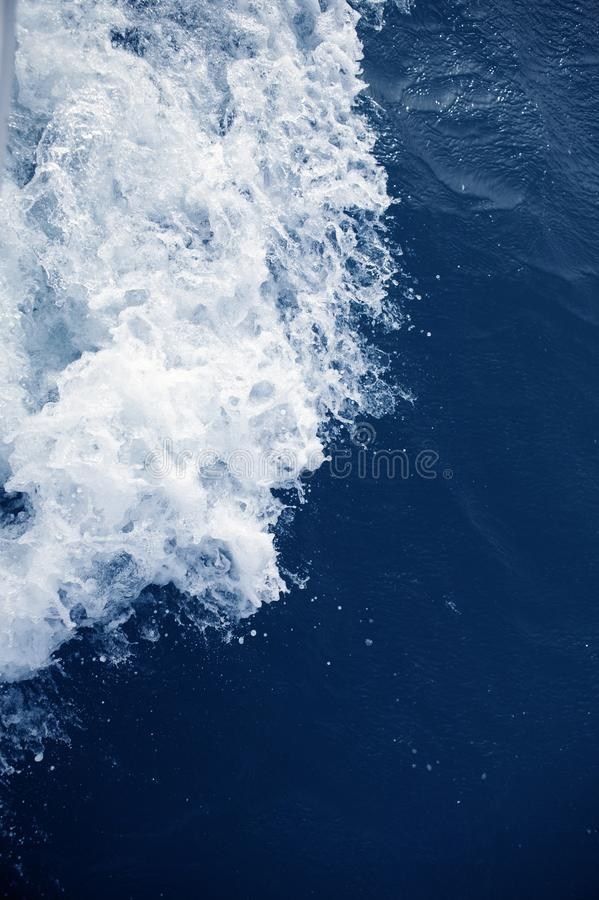 Blue Sea Active Water Foam Texture Royalty Free Stock Photography