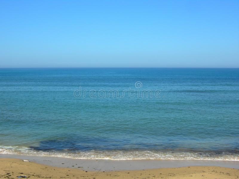 Blue Sea Assilah city summer royalty free stock image