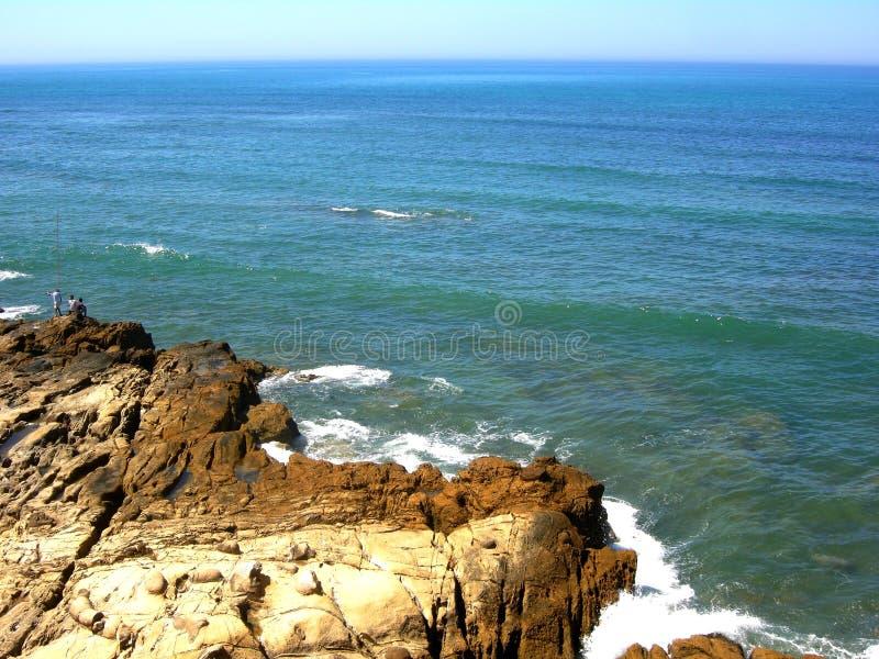 Blue Sea Assilah city summer. Atlantic ocean morocco asillah summertime beach tradition royalty free stock images