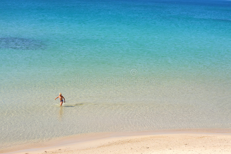 Blue sea background royalty free stock photography