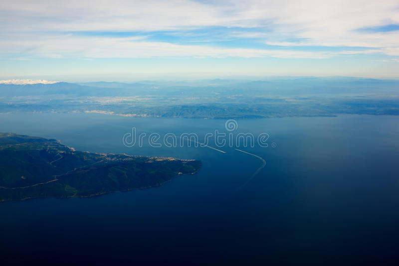 Blue sea and beautiful evening sky background with copy space for your text message or promotional content stock photos
