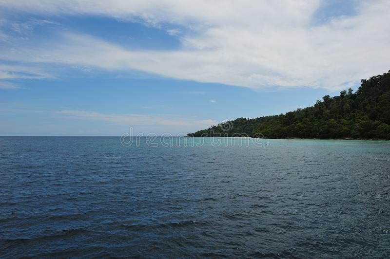 Blue sea and beautiful island royalty free stock photography