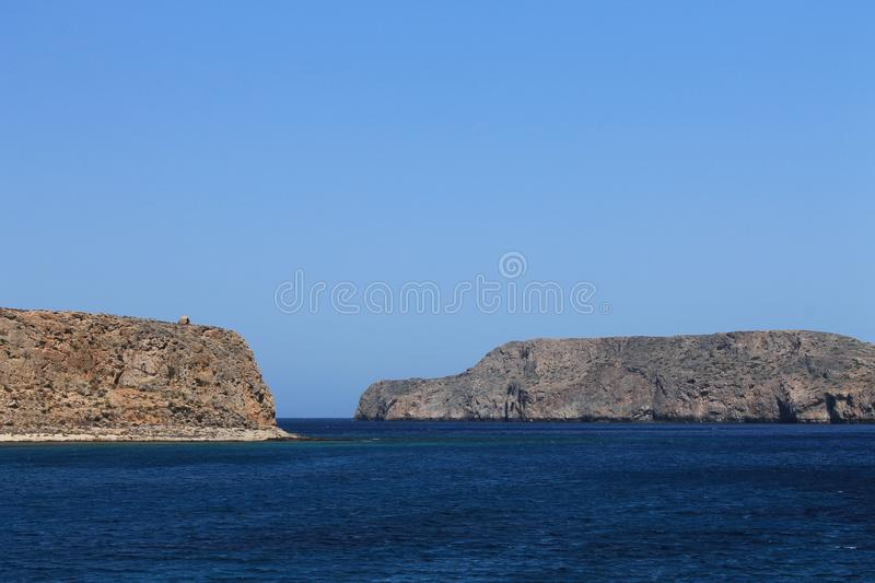Blue sea of Greece royalty free stock images