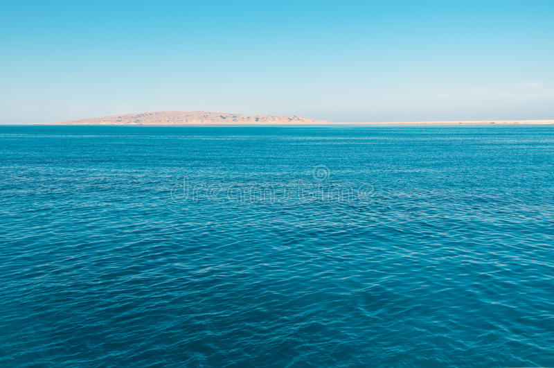 Blue sea and island stock photography