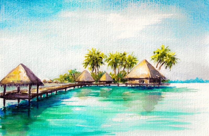 Download Blue sea stock illustration. Image of laguna, nature - 32055703