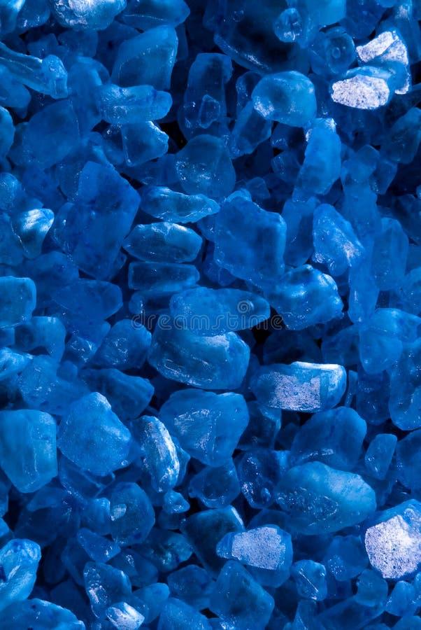 Blue sea salt for bath detail royalty free stock photography