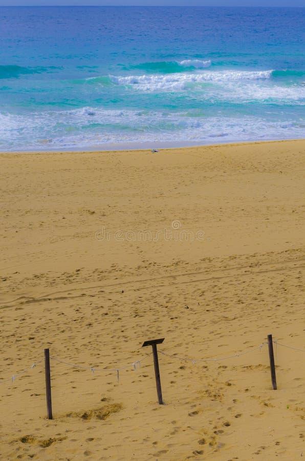 Blue sea and sandy beach royalty free stock photos