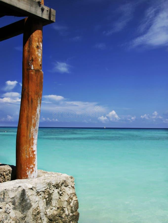 Blue sea and sky stock photos