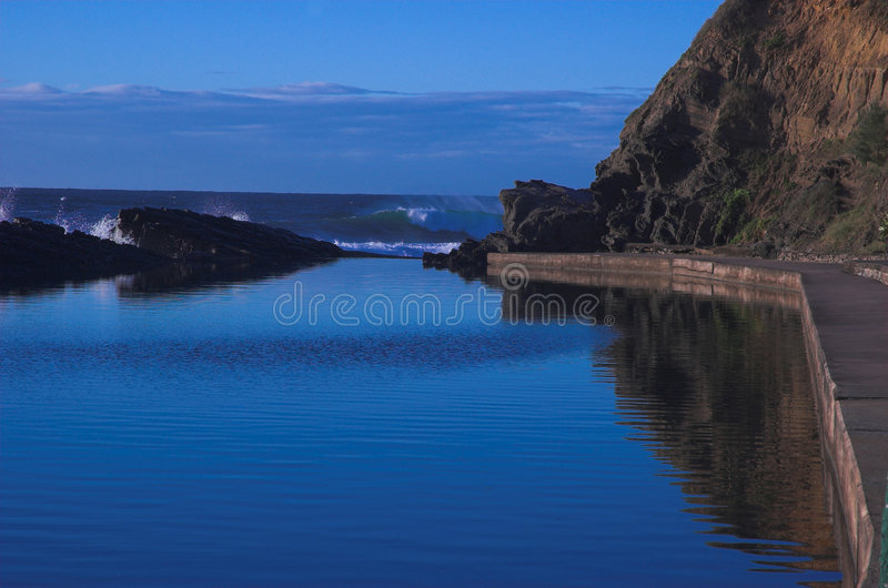 Blue sea and sky stock photography