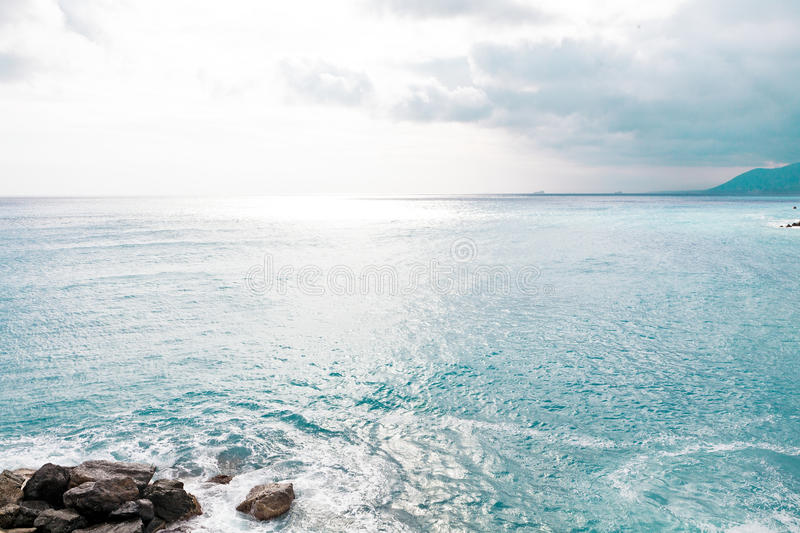 Blue Sea and sky background royalty free stock image