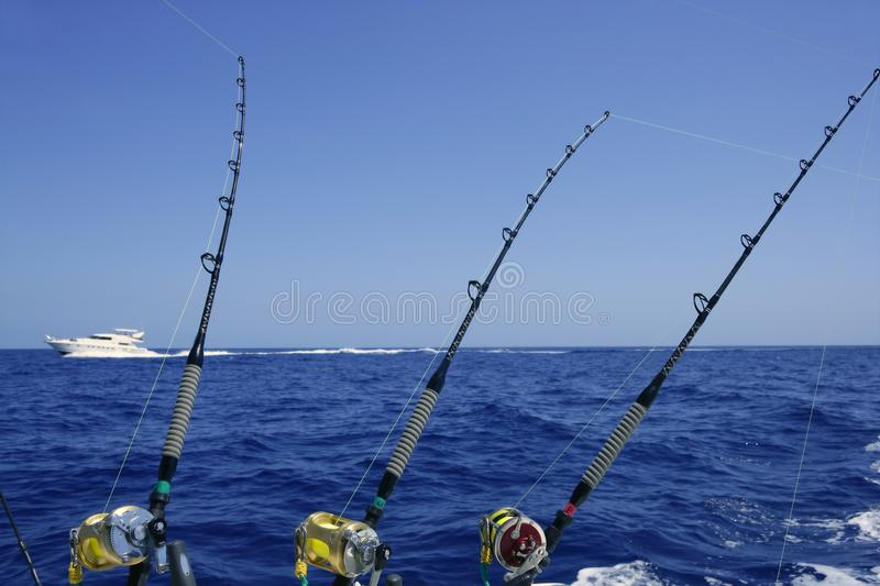 Blue sea and sky in a big game tuna fishing day stock for Florida 3 day fishing license