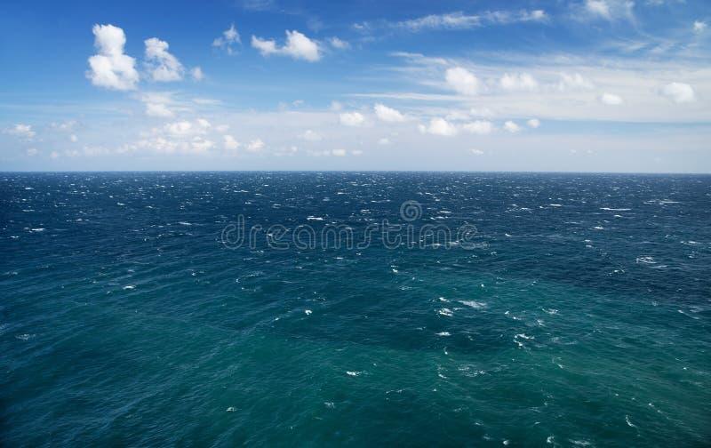 Blue sea and sky, horizon line. Seascape. Blue sea and sky, horizon line stock photos