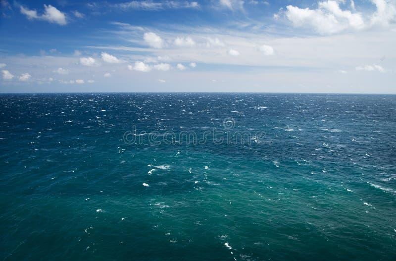 Blue sea and sky, horizon line. Seascape. Blue sea and sky, horizon line stock photography