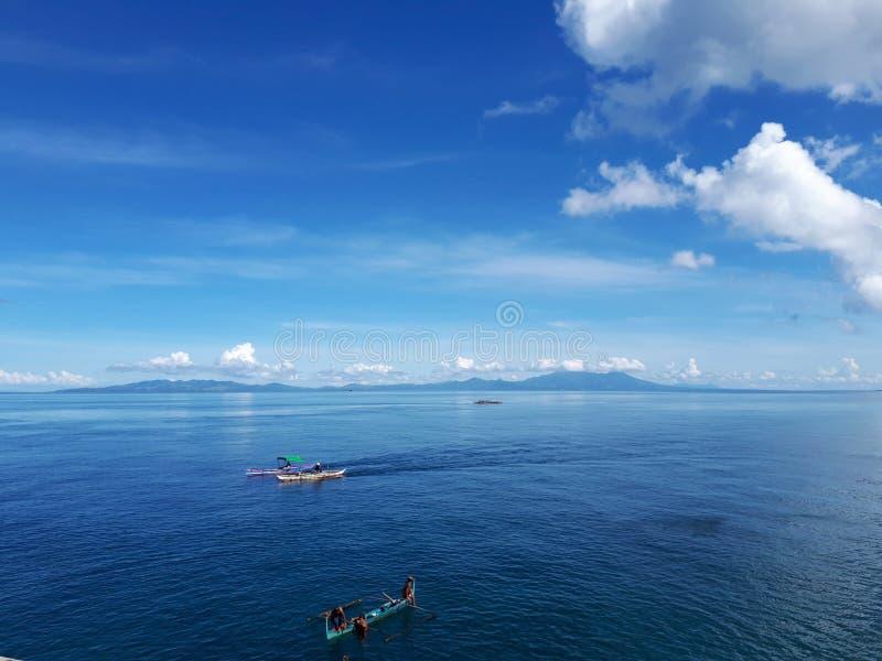 Blue sea & sky stock photography
